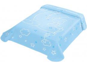 Španělská deka LUX 536 - modrá, 80 x 110 cm
