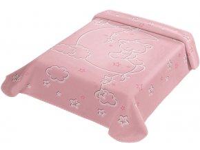 Španělská deka LUX 536 - růžová, 80 x 110 cm
