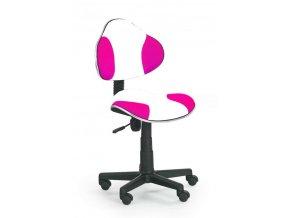 Židle OZY-G2 bílo růžová