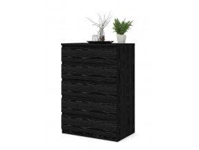 Komoda Simplicity 071 woodgrain černá