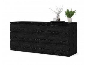 Komoda Simplicity 072 woodgrain černá