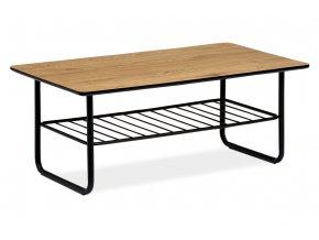 Konferenční stolek 110x60x45, tloušťka desky 25mm, MDF dekor divoký dub, kov černý matný lak