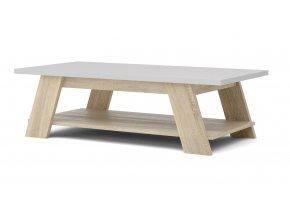 Konferenční stolek Liam 753 dub sonoma/bílá