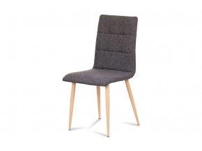 Jídelní židle, šedostříbrná, DCL-603 SIL2