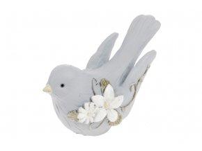Ptáček z polyresinu, barva modrá