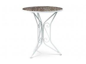 Zahradní stůl, deska z keramické mozaiky, kov, bílý lak (designově k židli US1001)