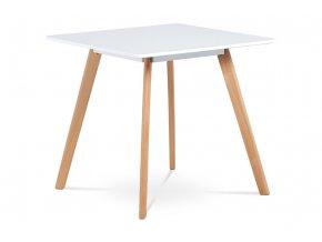 Jídelní stůl 80x80 cm, bílý matný lak, DT-606 WT