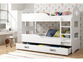 Patrová postel Domino 90x200 bílá