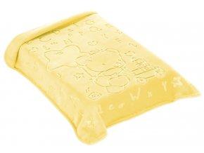 Španělská deka 521 - žlutá, 80 x 90 cm