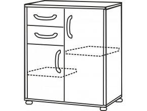 Prádelník 1504 buk