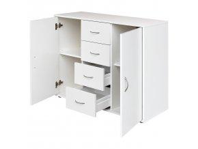 Prádelník 2 dvířka + 4 zásuvky 1507 bílý