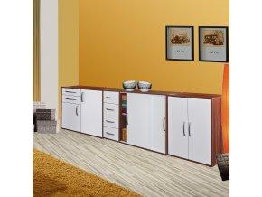 Prádelník 61503 ořech/bílá