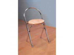 Skládací stolička chrom/buk