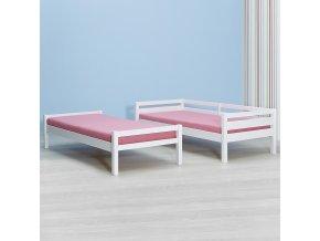 patrová postel (Palanda) GIGA bílý lak