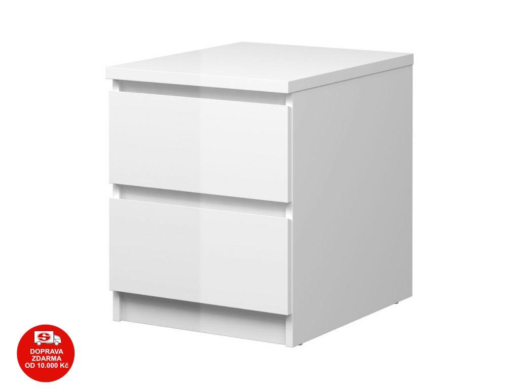 Noční stolek Simplicity 230 bílý lesk