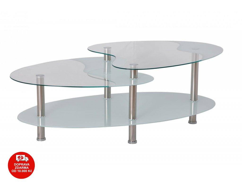 Konferenční stolek BA-5-Oval bílý
