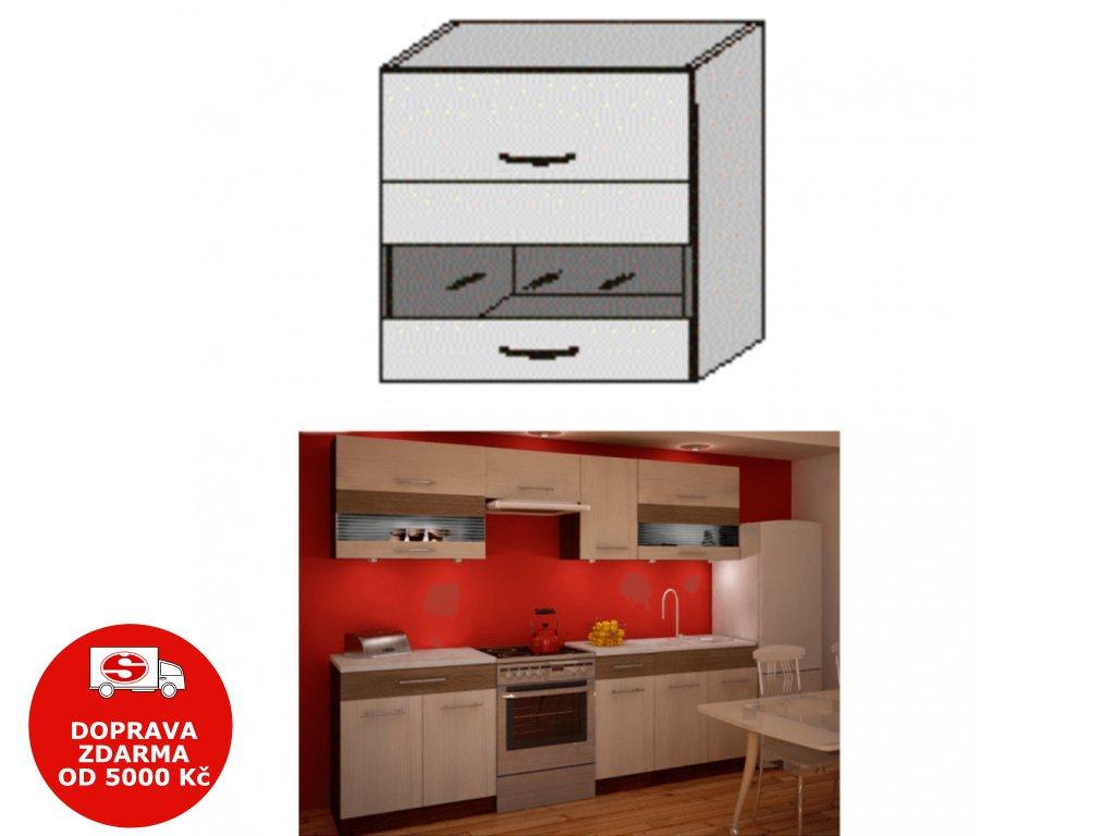 Horní skříňka, rigolletto light / rigolletto dark / wenge, JURA NEW IA GW1-80