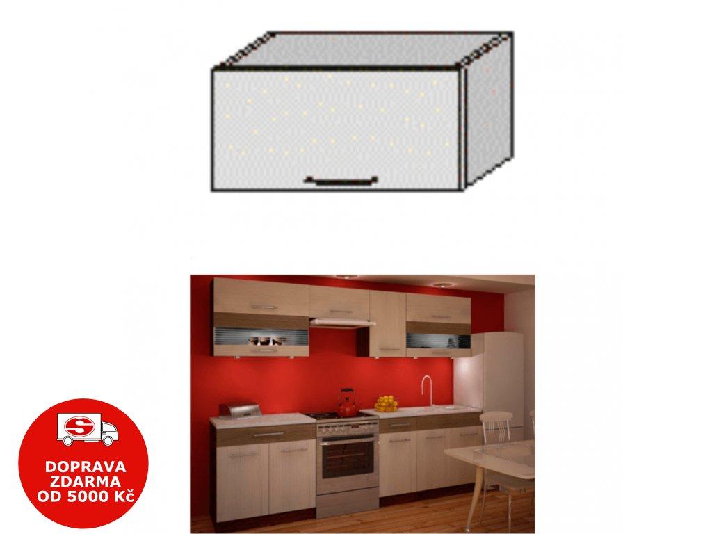 Horní skříňka, rigolletto light / rigolletto dark / wenge, JURA NEW IA OG-60
