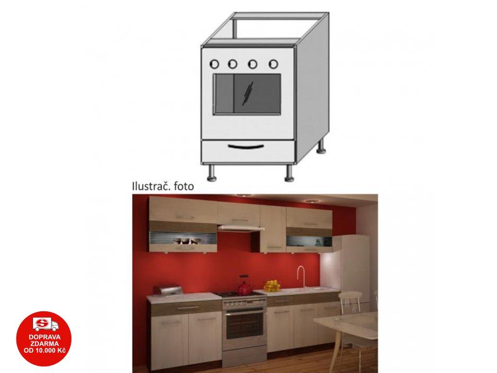 Spodní sporáková skříňka, rigolletto light / rigolletto dark / wenge, JURA NEW IA ZK-60 K1