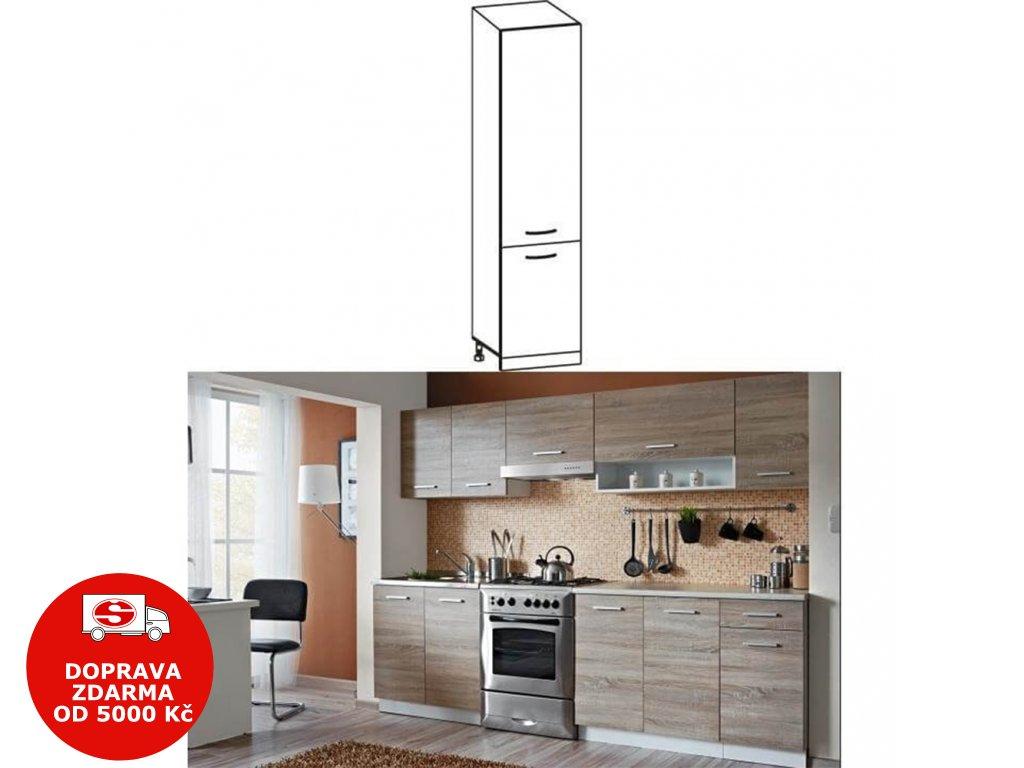Skříňka do kuchyně, dolní, dub sonoma / bílá, Cyra NEW S-50