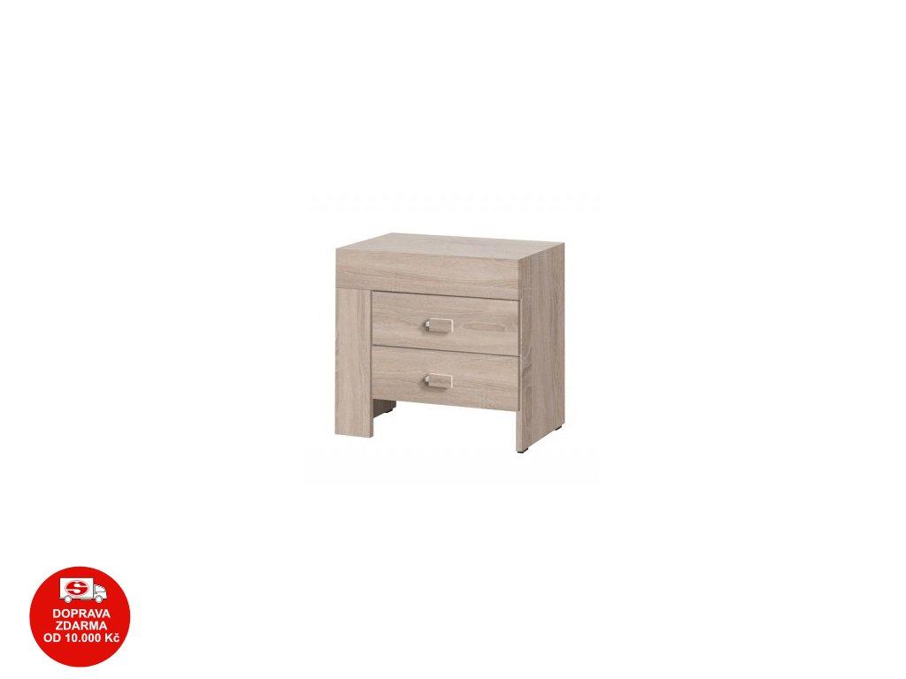 Noční stolek Cezanne R21 levý sonoma