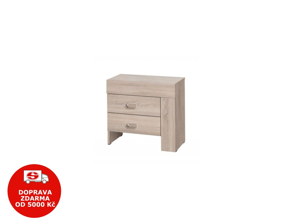 Noční stolek Cezanne R21 pravý sonoma