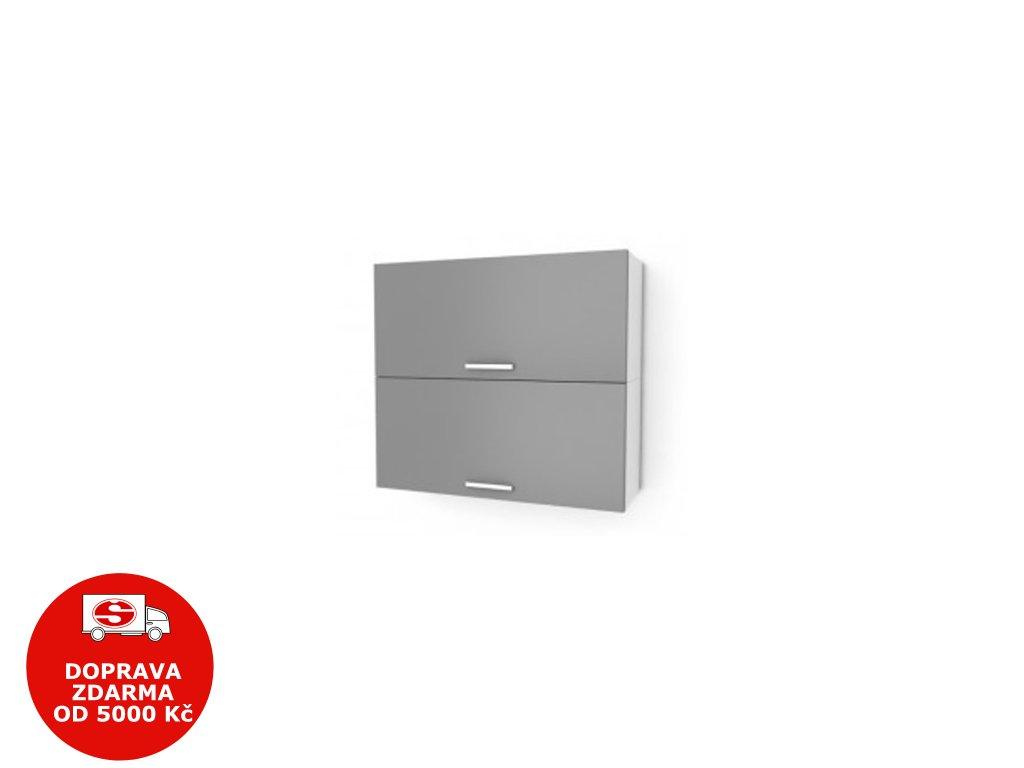 Kuchyňská skříňka Natanya KL802D bílý lesk