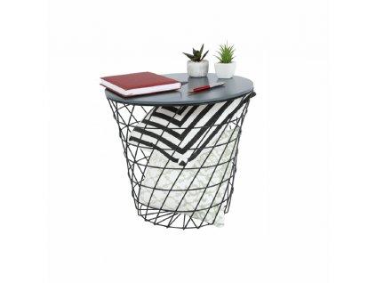 Příruční stolek, grafit / černá, BATIS TYP 3
