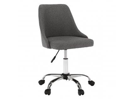 Kancelářská židle, šedá / chrom, Ediz