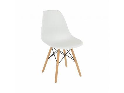 Židle, bílá / buk, CINKLA 3 NEW