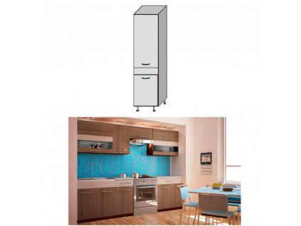 Potravinová skříňka, rigolletto dark / rigolletto light / wenge, JURA NEW I S-40