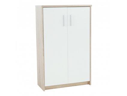 Kancelářská skříňka, dub sonoma/bílá, JOHAN 2 NEW 13 JH033
