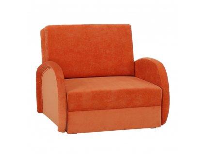 Rozkládací křeslo, oranžová, MILI 1