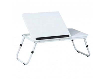 Stolek na notebook/držák na tablet, bílá, EVALD