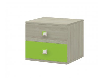 Merkur 22 noční stolek jasan/zelená