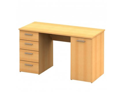 PC stůl, buk, DTD laminovaná, EUSTACH