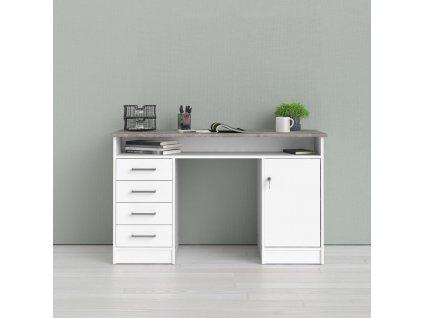 Psací stůl Felix 011 beton/bílá