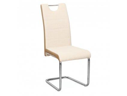 Židle, látka béžová / ekokůže béžová / chrom, Izma
