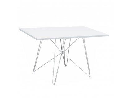 Jídelní stůl, MDF / bílá / HG lesk, ARTEM