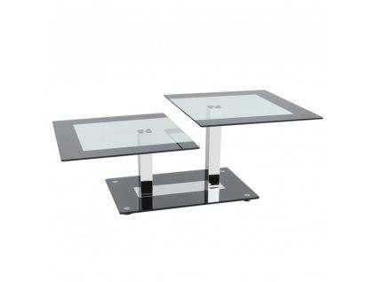 Konferenční stolek, černá / sklo, GABRIEL