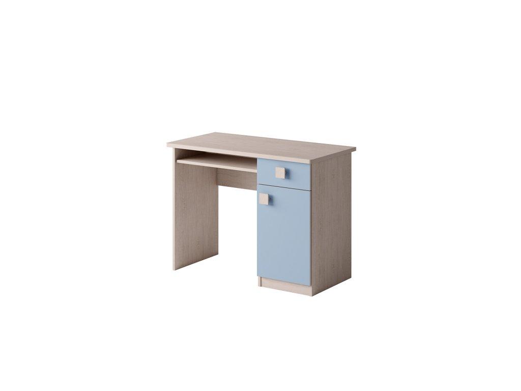 biurko niebieskie