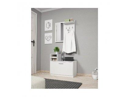 Luna Garderoba biała matowa