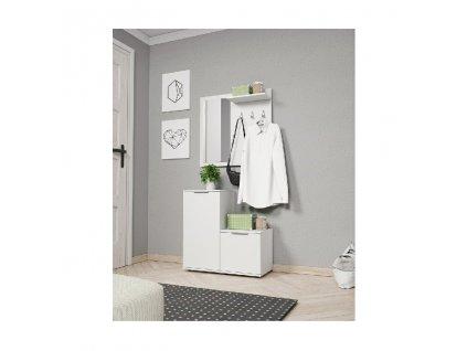 Monti Garderoba biała matowa