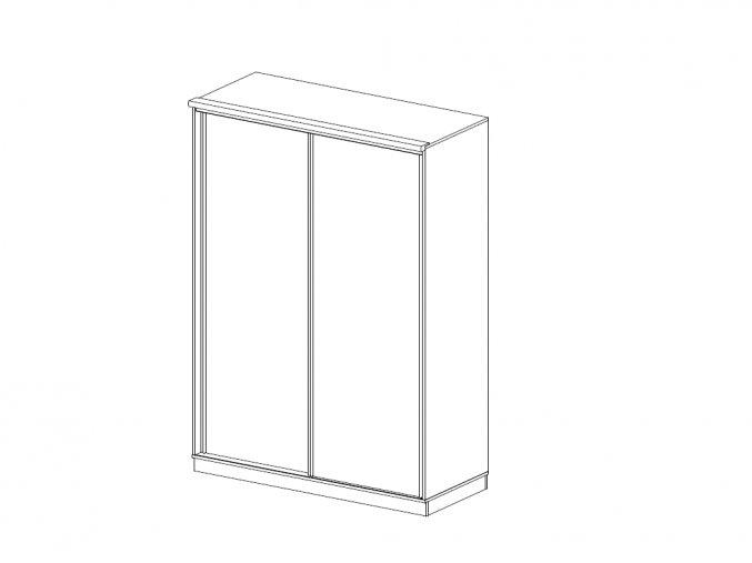 skrine BMB satnik posuvne dvere plne 150