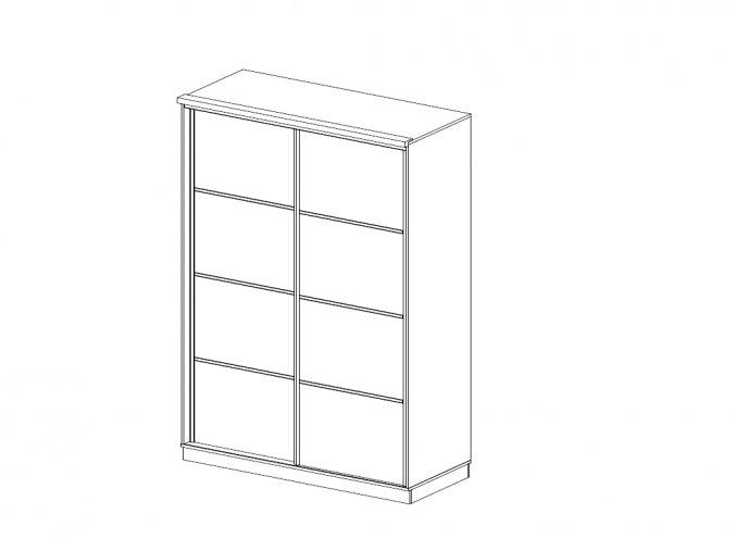 skrine BMB satnik posuvne dvere delene 150