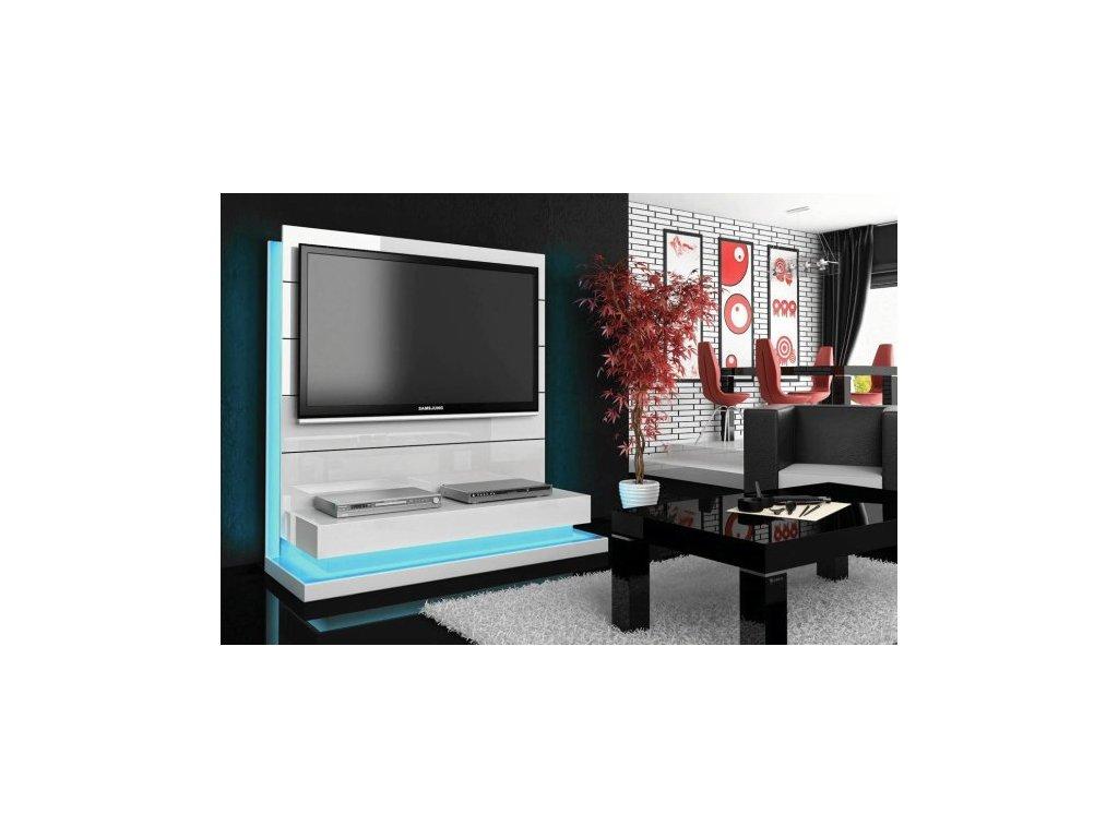 Luxusná televízna stena PANORAMA LUX biela