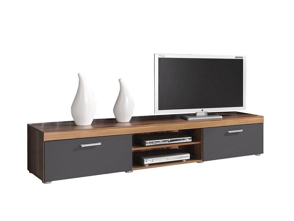 TV stolík SAMBA slivka / grafit mat
