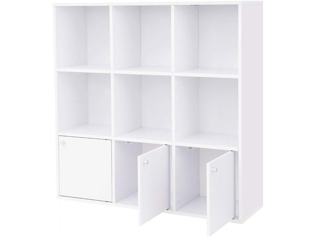 Knihovna s dvířky LBC33WT, bílá