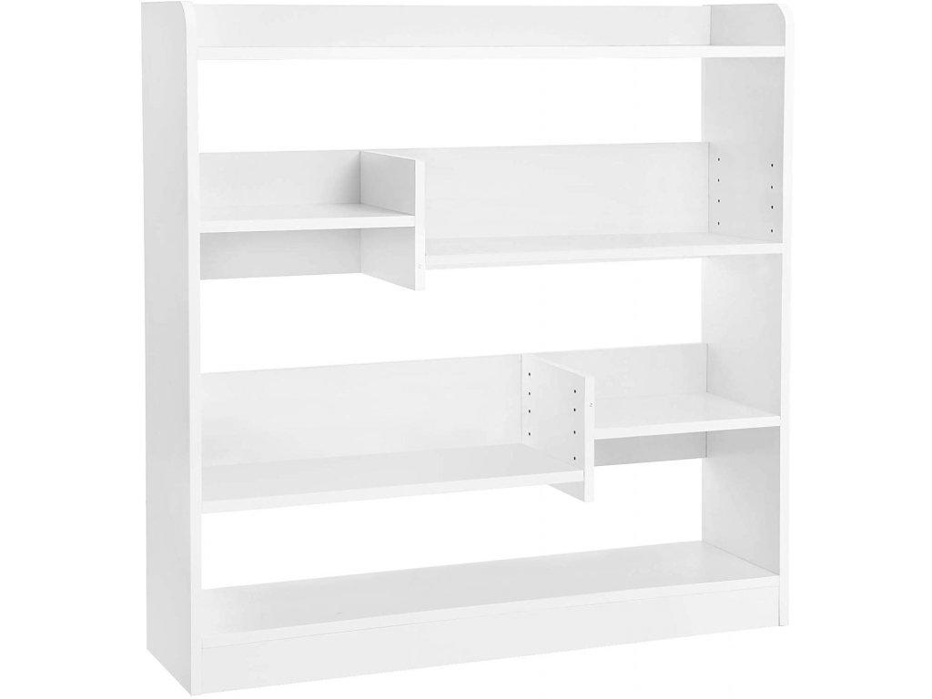 Knihovna s nastavitelnými policemi LBC53WT, bílá