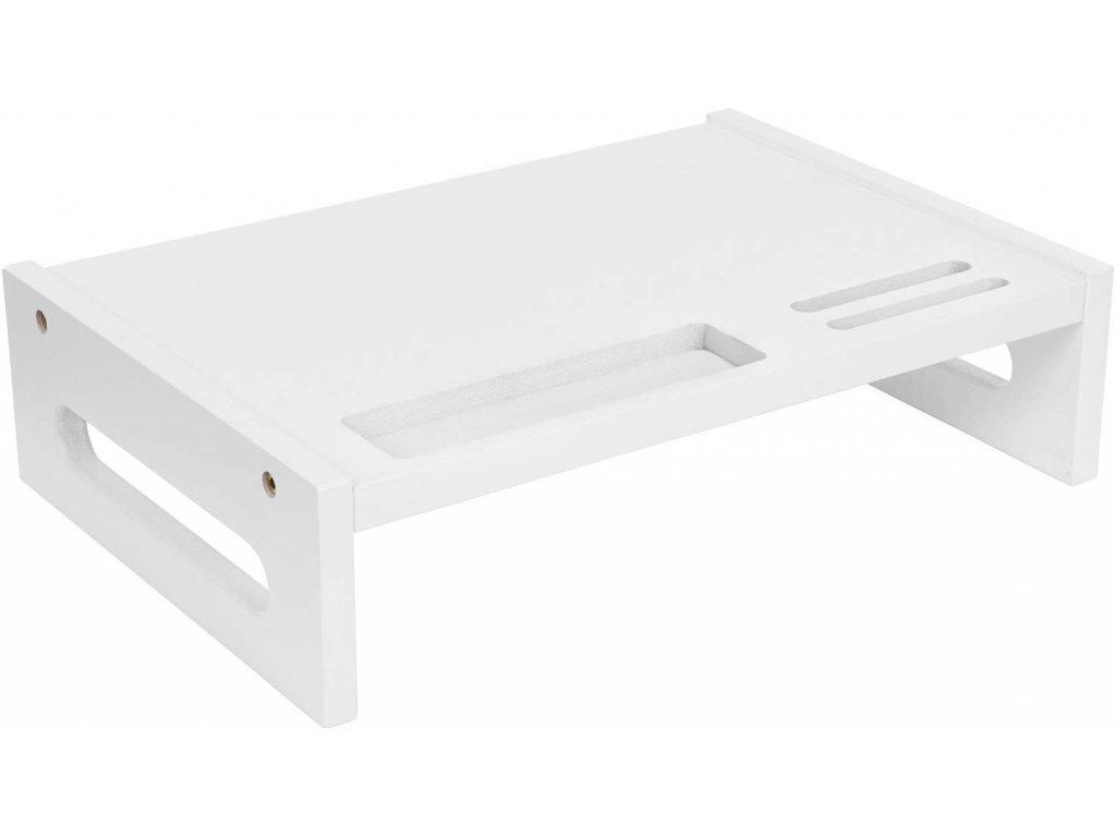 Bambusová podložka pod monitor bílý LLD211WT